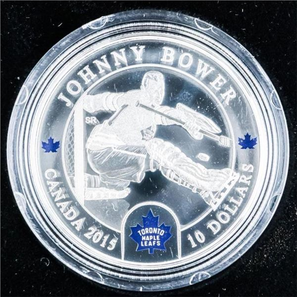 RCM 2015 'Johnny Bower' .999 Fine Silver  $10.00 C.O.A. LE