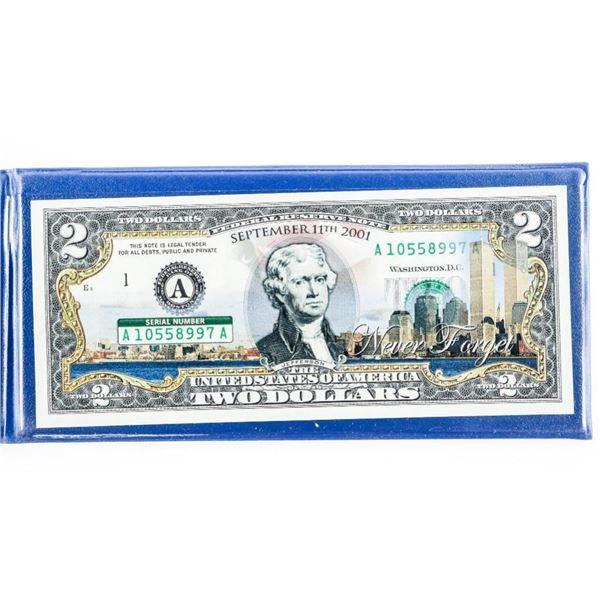 USA Anniversary $2 Colourized in Folio Gem  UNC