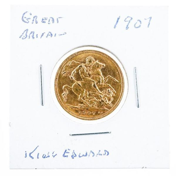 Great Britain 1907 'King Edward' Gold  Sovereign