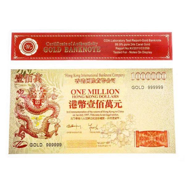 Hong Kong 1 Million Dollar. Gold Note