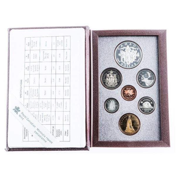 RCM 1994 Proof Coin Set - Special Issue Cases