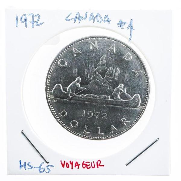 Canada 1972 Canada Voyageur Dollar Coin MS 65  (10b-oer)