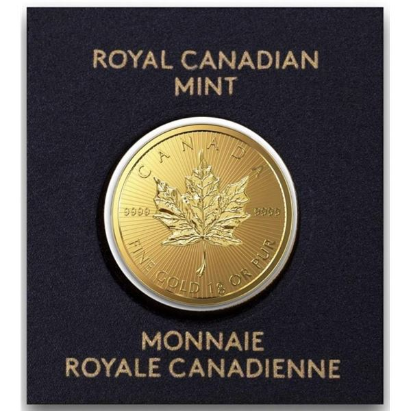 RCM Maple Leaf 50c Gold Coin .9999 Fine Gold,  Serialized, Sealed 2021 Issue. Scarce.