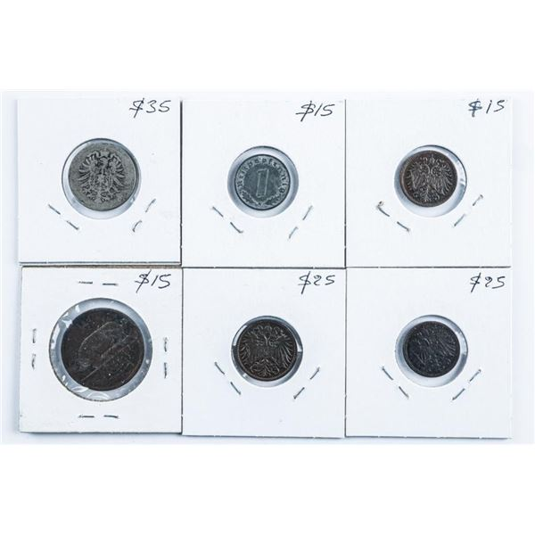 Group of (6) Coins - Great Britain, Ireland,  Germany