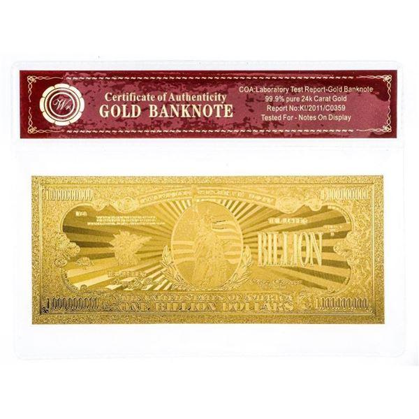 USA 24kt Gold Bullion Dollar Collectible