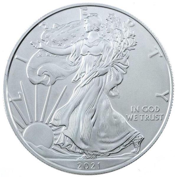 USA 2021 Eagle/Liberty Dollar Coin .999 Fine  Silver 1.00