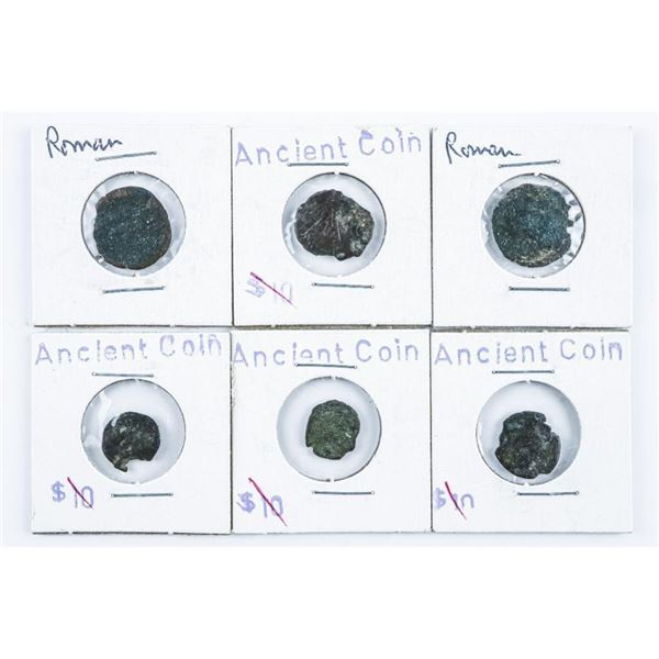 Group of (6) Ancient Roman Coins