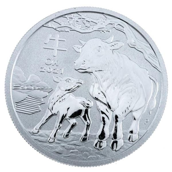 Australia 2021 Year of the OX .999 Fine Pure  Silver Coin 'Capsulated'