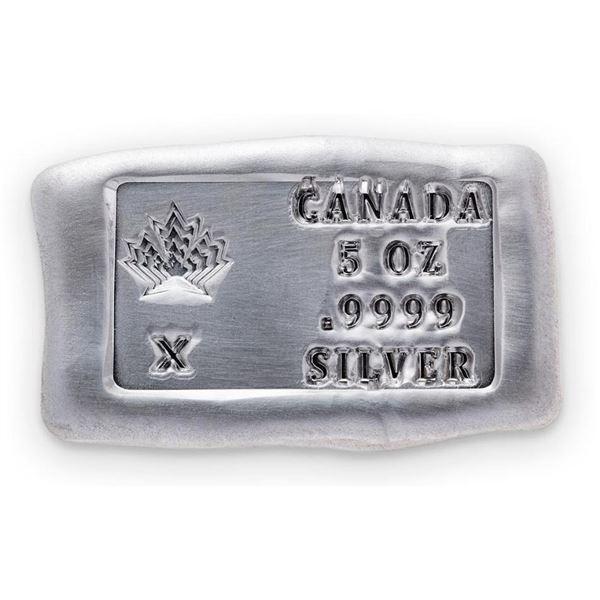 Canada - Collector Bullion Hand Poured Brick  .999 Fine Silver 5oz Troy ASW