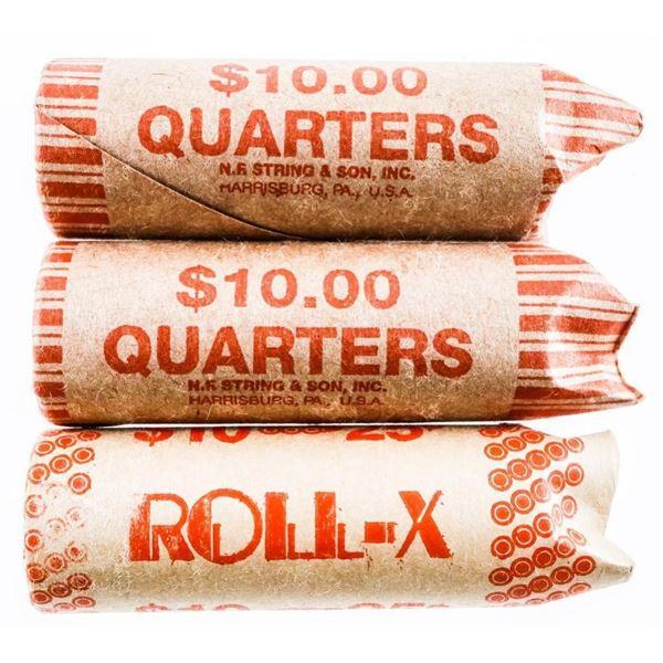 Lot (3) Rolls CANADA 25 Cent