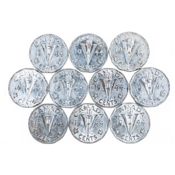 Bag Lot - (13) CANADA 1945 Nickels - 2, No  Chrome