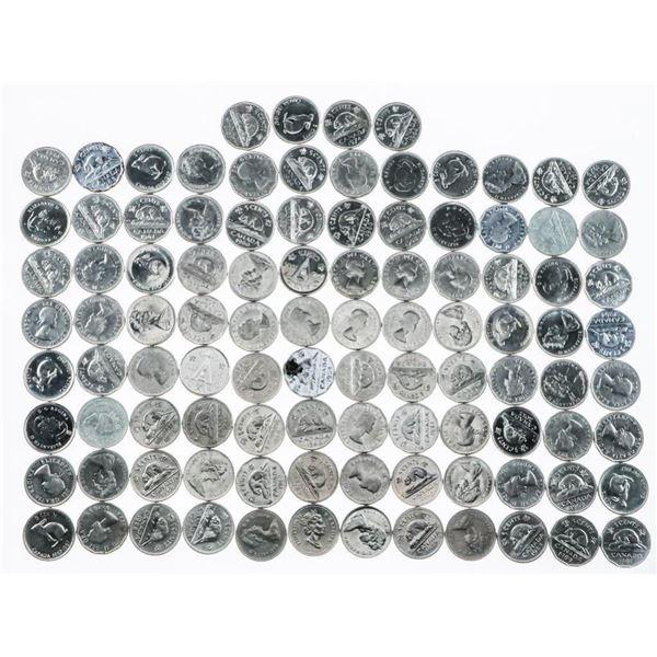 Bag/Lot (100) Canada Nickels