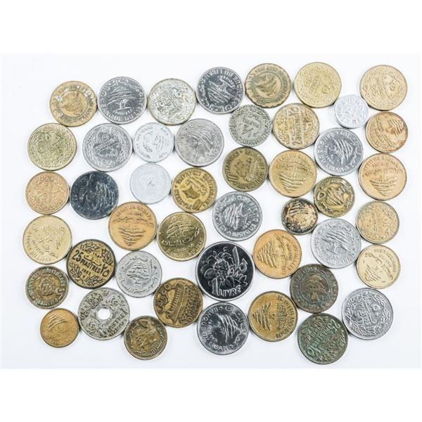 Lot of 46 Lebanon old coins nice lot Book  value $100++