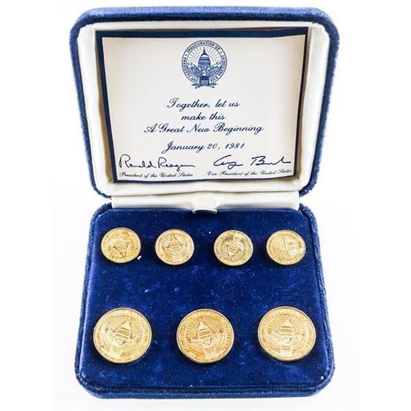 Ronald Reagan 1981 Inaugural Blazer Button  Set by Ben Silver