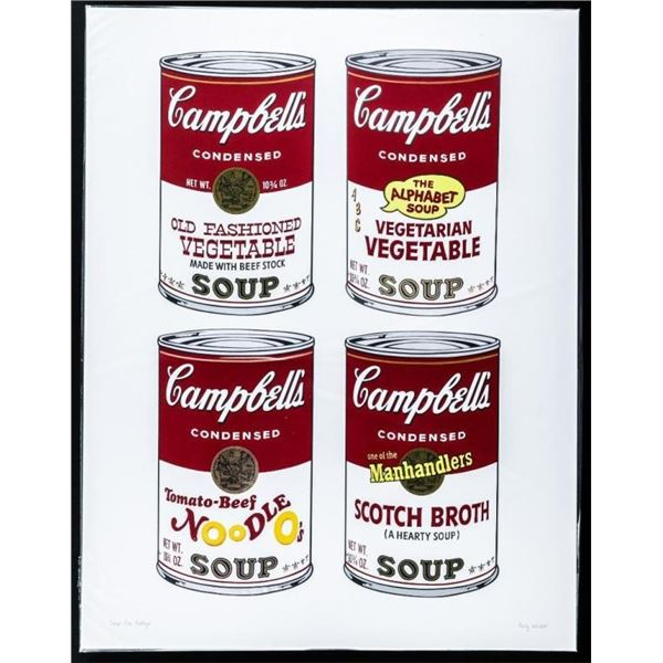 Andy Warhol - SOUP CAN Collage Giclee 17x22""