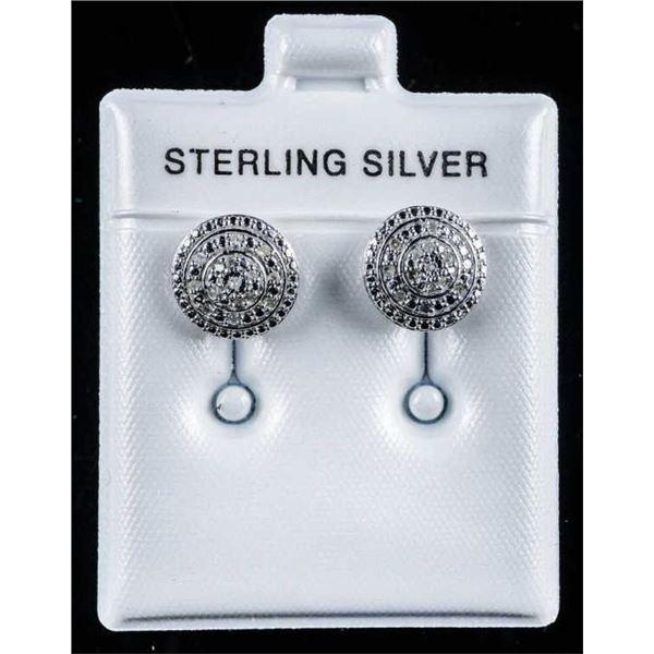 925 Sterling Earrings Micro Pave Diamond  Buttle Style, Stud Earrings