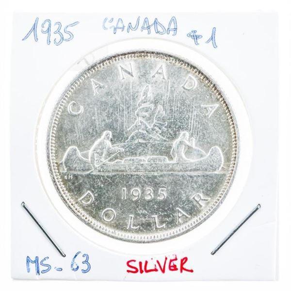 Canada 1935 Silver Dollar M#63 (8a-ae)