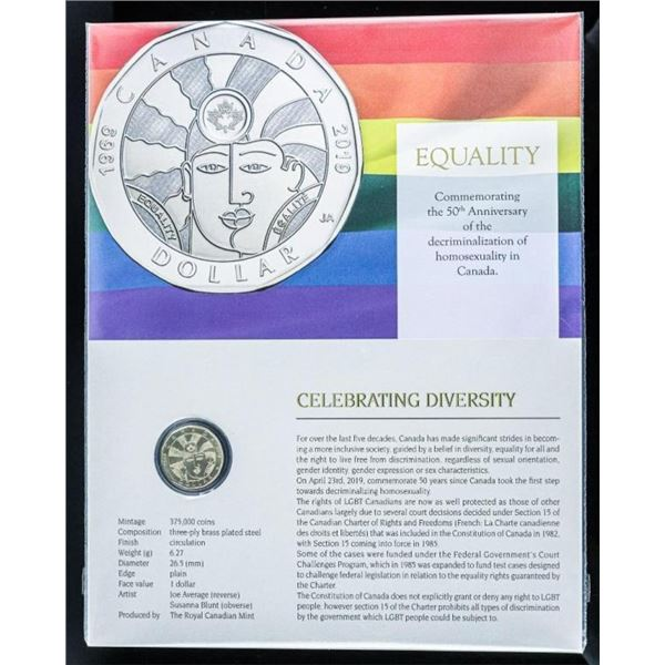 RCM - Equality Dollar Coin Display with  Giclee Art 8x10