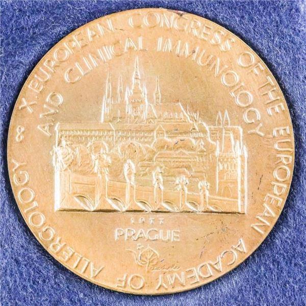PRAGUE 1977 European Congress Medal Original  Case