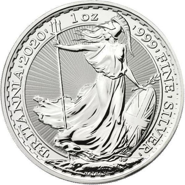 2020 Britannia 2 Pounds .999 Fine Silver 1oz  ASW