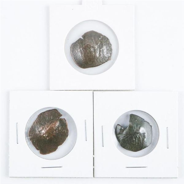 Lot (3) Byzantine Coinage; Cup Shape;  Medieval Times