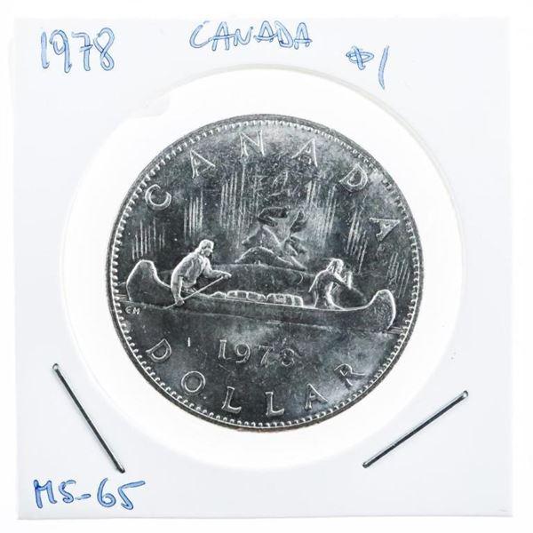 Canada 1978 Voyageur Dollar Coin MS 65  (10b-ser)