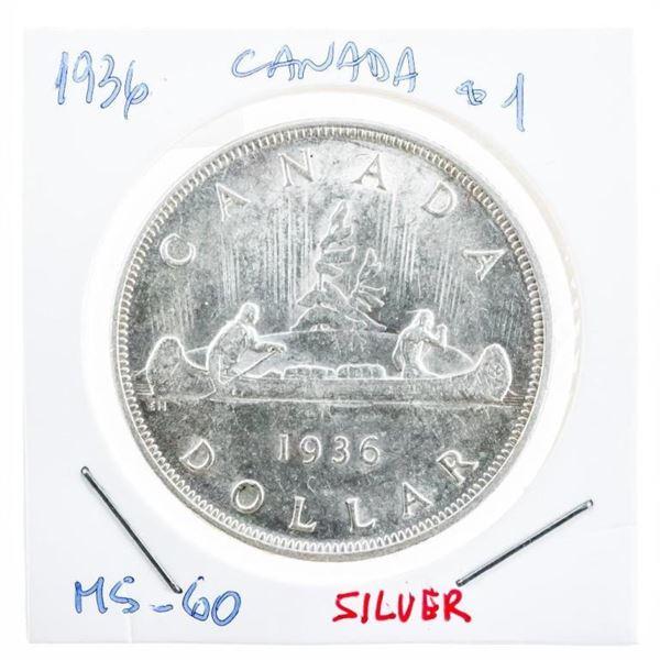 Canada 1936 Silver Dollar M#60 (8a-ce)