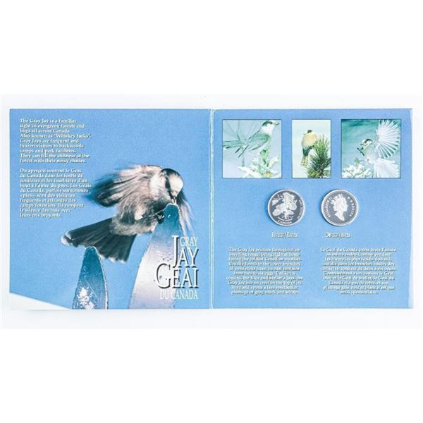 Canada on The Wing - Fifty Cent 925 Silver 2  Proof Coin Set in Display Folio