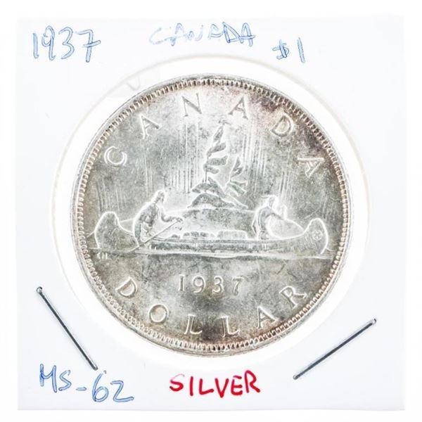 Canada 1937 Silver Dollar M#62 (8a-cr)