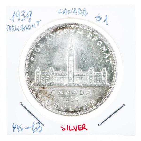 Canada 1939 Silver Dollar M#63 (8a-kr)