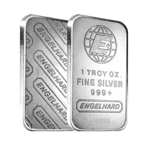 Scarce Collector Bullion Bar - Engelhard .999  Fine Silver - 1oz. Bar w/Serial Number