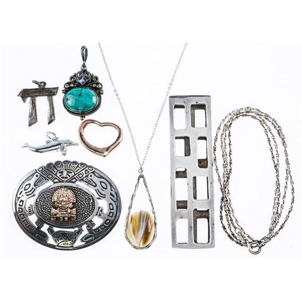 Estate Lot/Bag Sterling Silver Jewellery 45  Grams