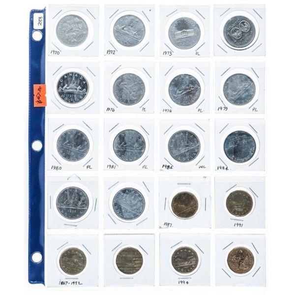 Lot (20) Canada Dollars. Mixed.