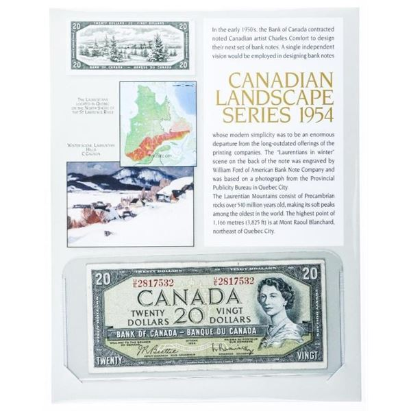 Bank of Canada 1954 20.00 Modified Portrait  B/R