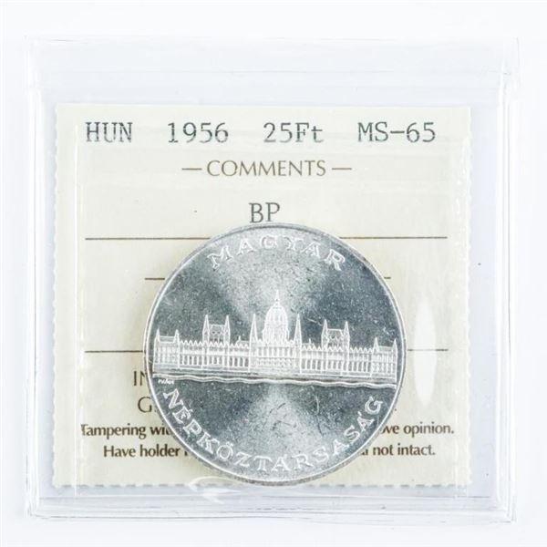 Hungary 1956 25FT MS65. BP. ICCS