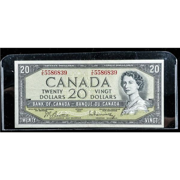 Bank of Canada 1954 20.00 Devil's Face. B/R