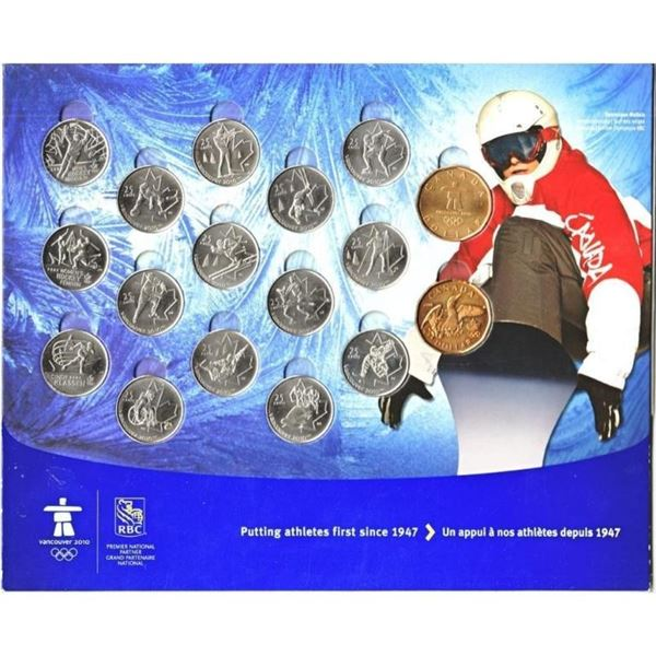 Vancouver 2010 = 17 Coin Collection In  Display Folio