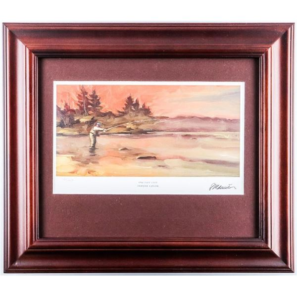 Canada Post - Fishing Flies LE Canvas. Framed  Litho. 12x15""
