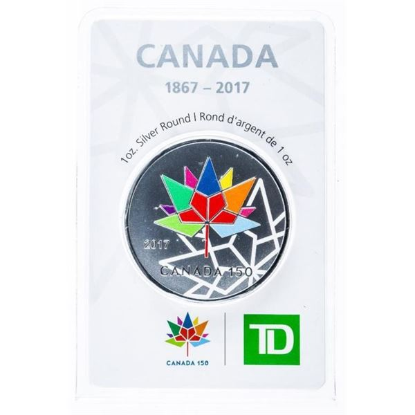 TD Bank Canada 1867-2017 .999 Fine Silver 1  Ounce Troy Sealed Collector Round