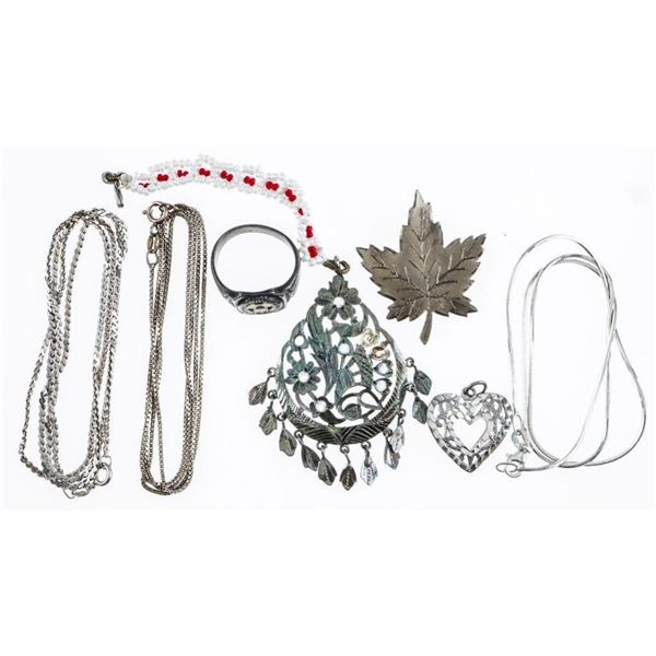 Estate Lot/Bag Sterling Silver Jewellery 34  Grams