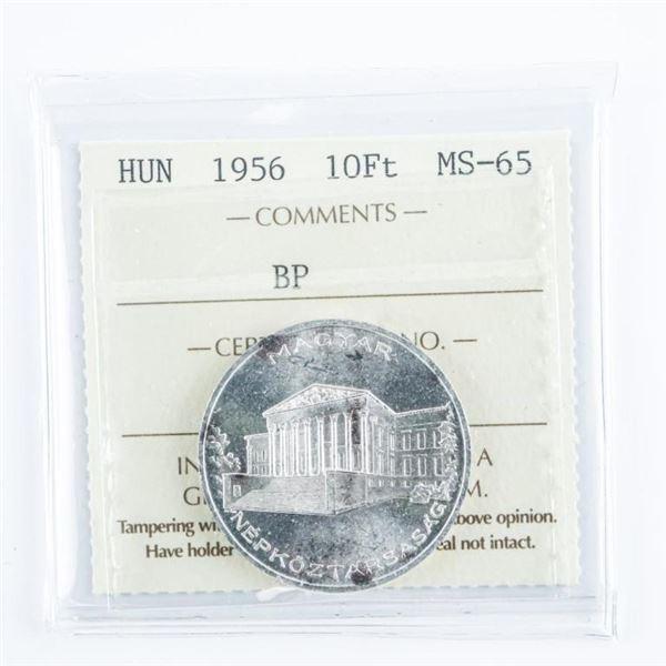 Hungary 1956 10F+ MS65. ICCS