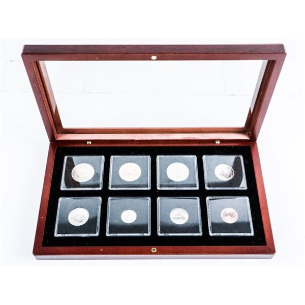 Millennium 2000 (8) Coin Set - 8 Mint Issues,  Wood Case