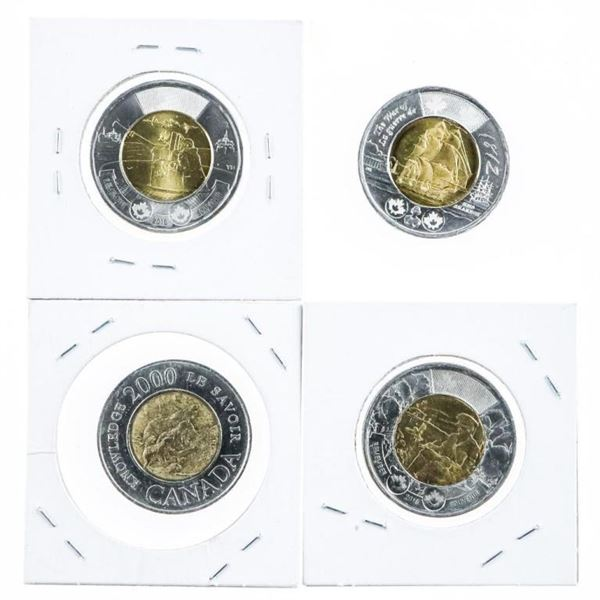 Group of 4 Canada Special Issue $2.00 Coins