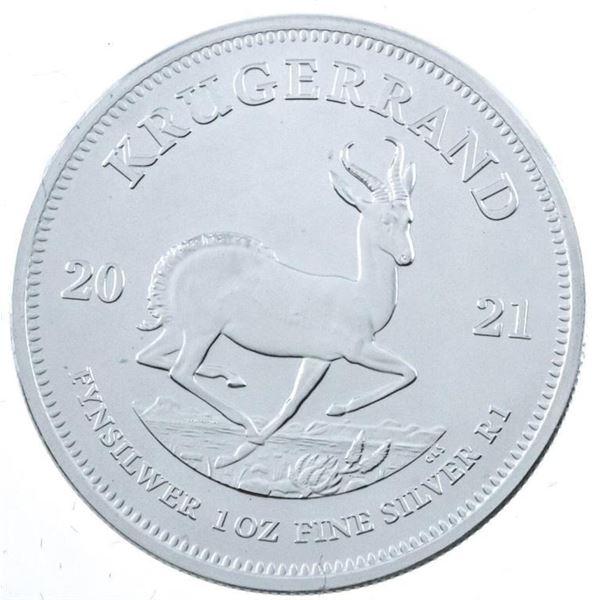 South Africa Krugerand 2021 .999 Fine Silver  1oz Round