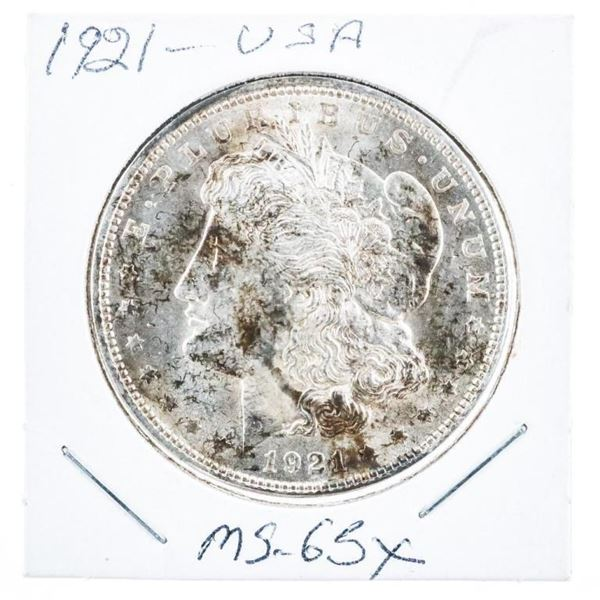 1921 USA Silver Morgan Dollar MS65x
