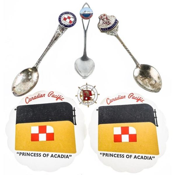 Lot (3) Spoons - S.S. Empress of England, RMS  Ivernia, RMS Carinthia