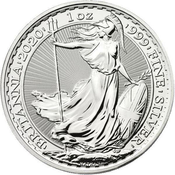 Britannia 2 Pounds Coin .999 Fine Silver 1oz  ASW