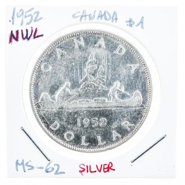 Canada 1952 Silver Dollar M#62 NWL (8a-oe )