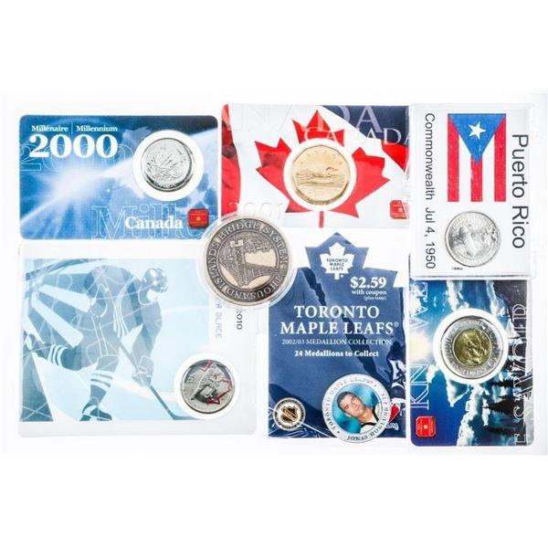Bag Lot Mixed Medals & coins