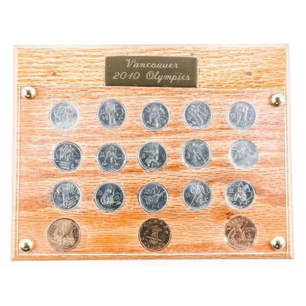 Vancouver 2010 Olympics Coin Collection -  Wood Plaque